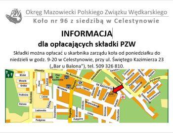 Informacja dla opłacających składki PZW